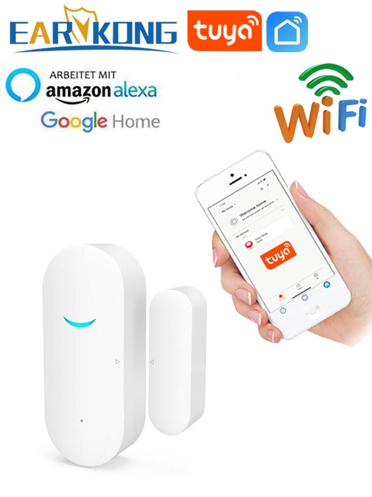 Detectors Door-Sensor Wifi Home-Alarm Alexa Compatible Tuya APP with Google