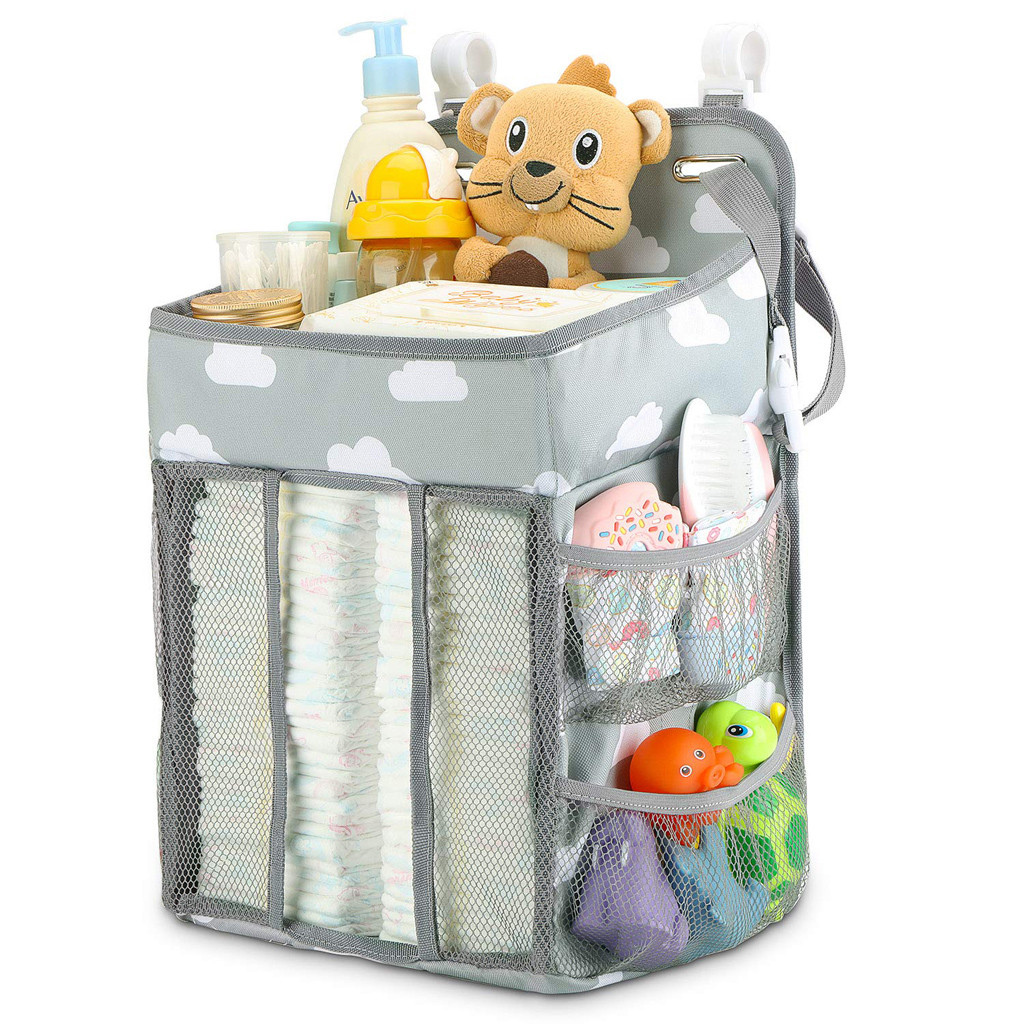 Baby Newborn Storage Organizer Crib Hanging Storage Bag Caddy Organizer For Baby Essentials Bedding Set Diaper Storage Bag #LR3