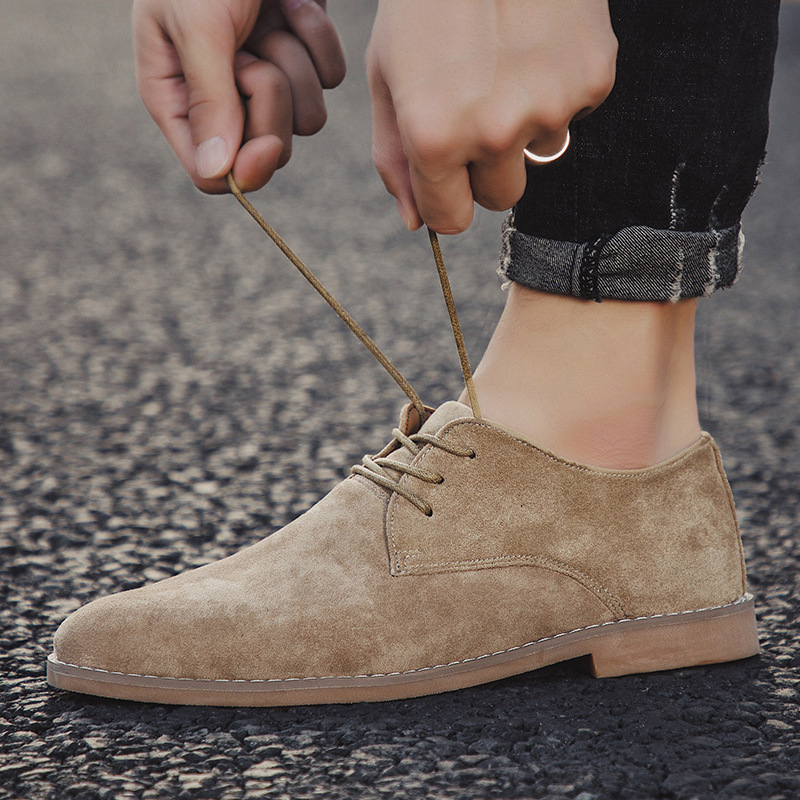 Merkmak Fashion England Trend Casual Shoes Men Flock Oxford Wedding Leather Dress Men Flats Waterproof Men Shoes Plus Siz 1