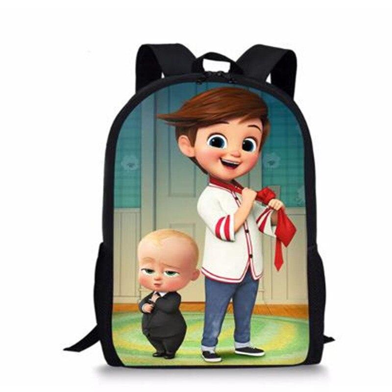 Fashion Childrens' School Backpack Boss Baby Pattern Students School Bag Cartoon Anime Design Teenagers Book-Bags Mochila