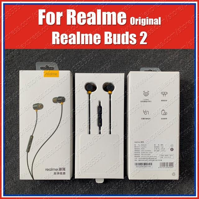 RMA155 التحكم المغناطيسي الأصلي ريليم براعم 2 سماعات 3.5 مللي متر سماعة Realme X2 برو XT 5i 5 برو XT C2 Q 3 برو X لايت ماستر