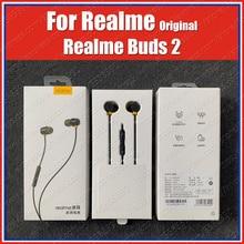 RMA155 Магнитный контроль оригинальные наушники Realme Buds 2 Наушники 3,5 мм гарнитура Realme X2 Pro XT 5i 5 Pro XT C2 Q 3 Pro X Lite Master