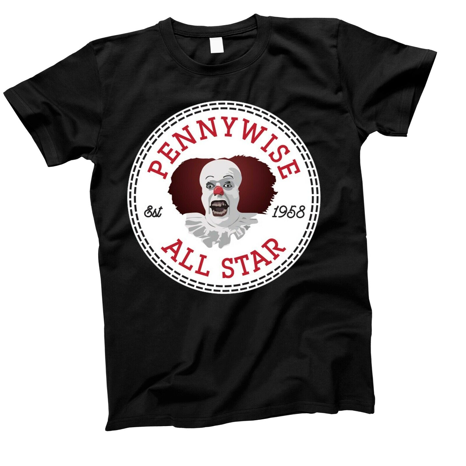 Pennywise IT T-Shirt Unisex Funny Tiny Toons Cotton Adult Clown Stephen King