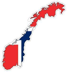 Image 1 - Naklejka samochodowa Moto mapa flaga winylowa ściana zewnętrzna naklejka Macbbook norwegia