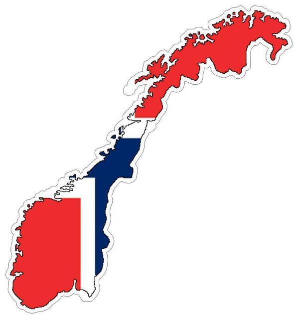 Naklejka samochodowa Moto mapa flaga winylowa ściana zewnętrzna naklejka Macbbook norwegia