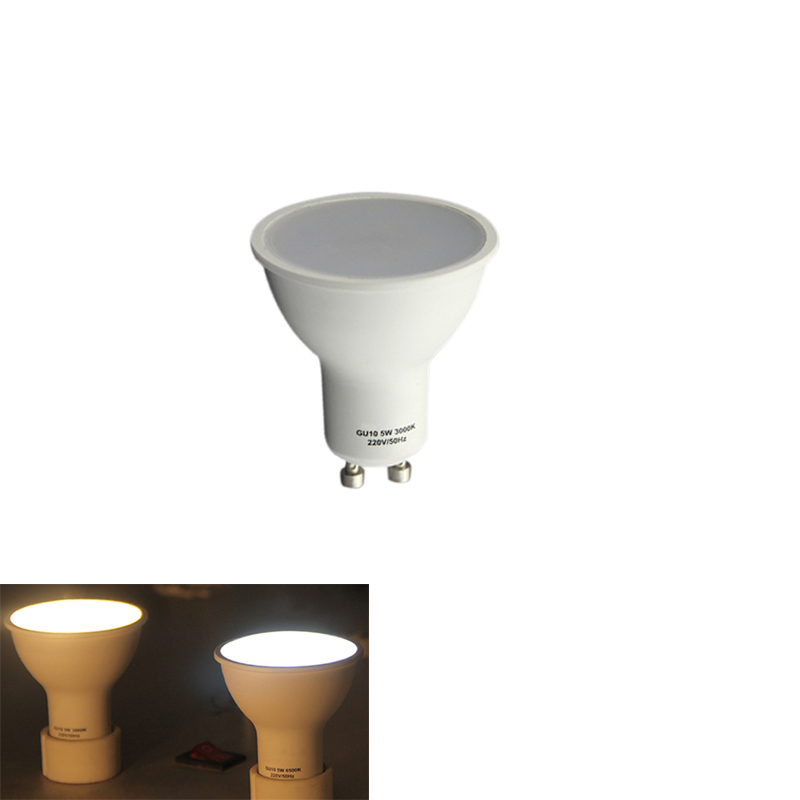 GU10 Bulbs Led Spotlights 220v Dimmable Indoor Lamps Real 3W 5W Down Lights Aluminum+pc