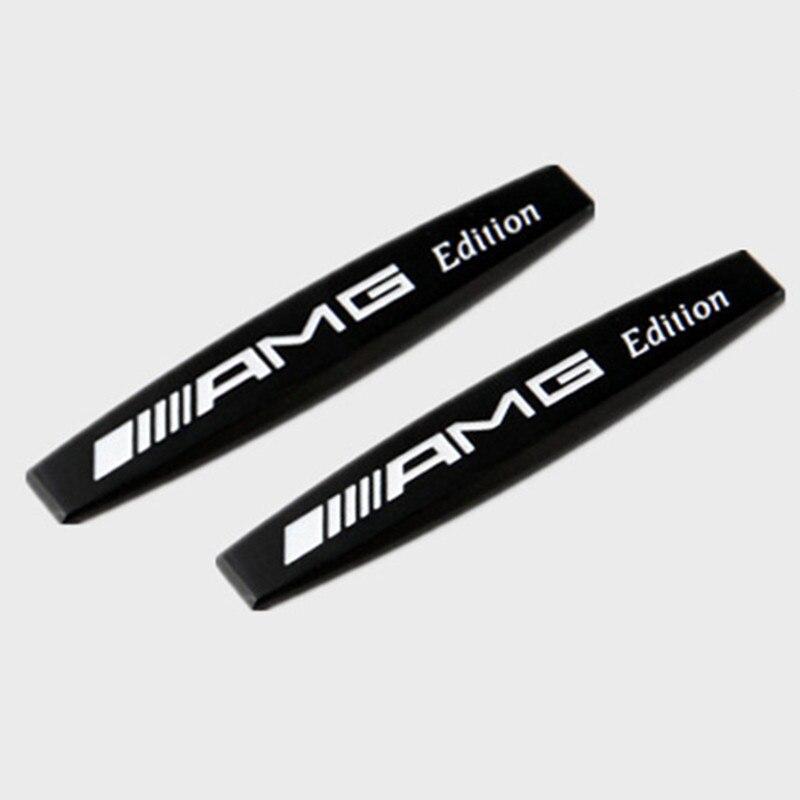2pcs Car Rear Trunk Bumper Or Side Fender Metal Car Stickers Emblem Badge For AMG CLK CLA A200 A300 E220 S300 S350 C200