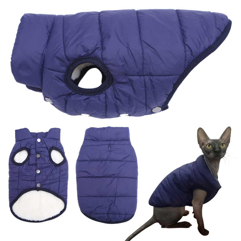 Cat Clothes Autumn Winter Warm Clothes For Cats Dogs Sphynx Soft Fleece Pet Cat Vest Jacket Windproof Coat Kitten Kitty Clothing