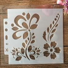 Flower-Plum Embossing-Album-Decorative-Template Layering Stencils Wall-Painting Scrapbook-Coloring