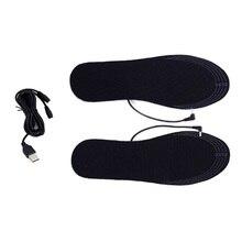 4,5 V USB стельки с подогревом ноги стельки с подогревом, зимние уличные спортивные лыжные стельки с подогревом для мужчин и женщин