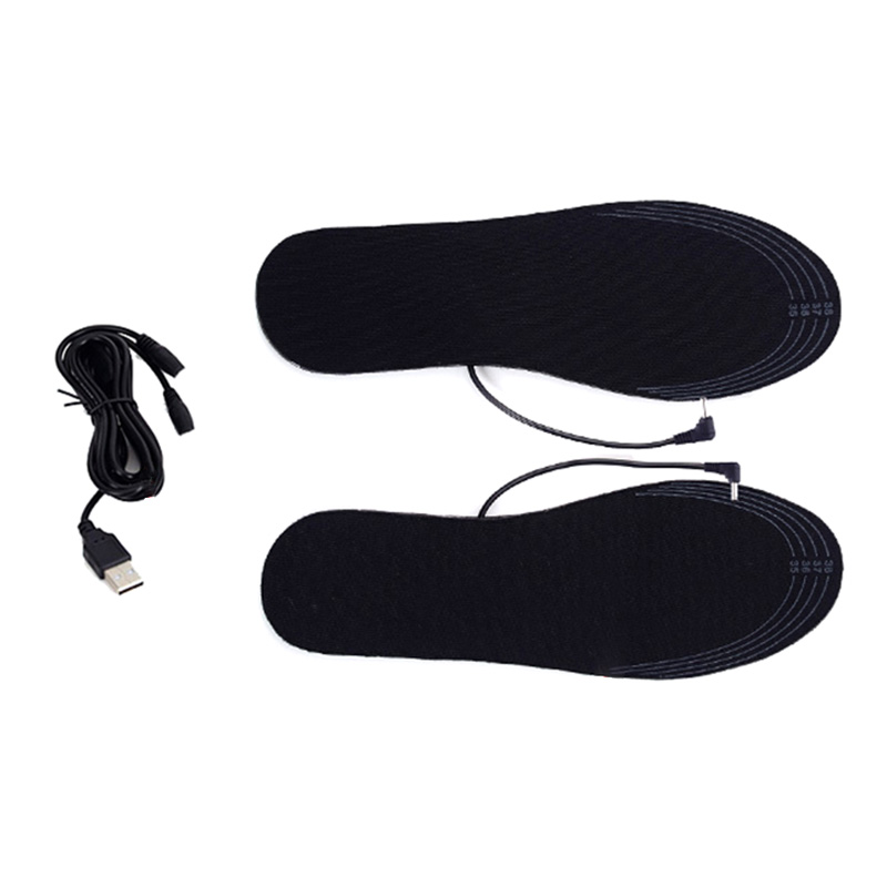 4.5V USB Heated Insoles Heated Foot Warmer Insoles, Winter Outdoor Sports Ski Heating Insoles Keep Warm For Men Women Shoes