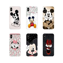 Accessories Phone Cases Covers Cartoon Mickey Minnie Mouse For Samsung Galaxy A3 A5 A7 A9 A8 Star A6 Plus 2018 2015 2016 2017(China)