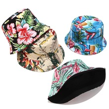 2019 Europe Bucket Hat Ladies Printing Double-sided Summer Outdoors Travel Folding Caps Men Women Casual