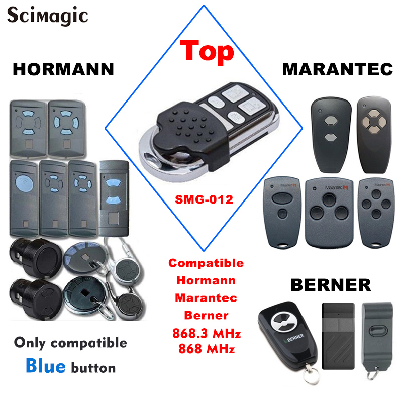 HORMANN Marantec Berner 868 Mhz Garage Door Remote Control Hormann HSM2 HSM4 HSE2 868.3MHz Gate Opener Crerand Transmitter