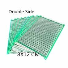 Circuit imprimé universel pour panneau de soudure Arduino, PCB Double face 8x12cm, 3 pièces