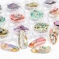 Украшения для ногтей 12 цветов, 3D блестящие жемчужные ракушки, ломтики, блестящие подвески, аксессуары для маникюра