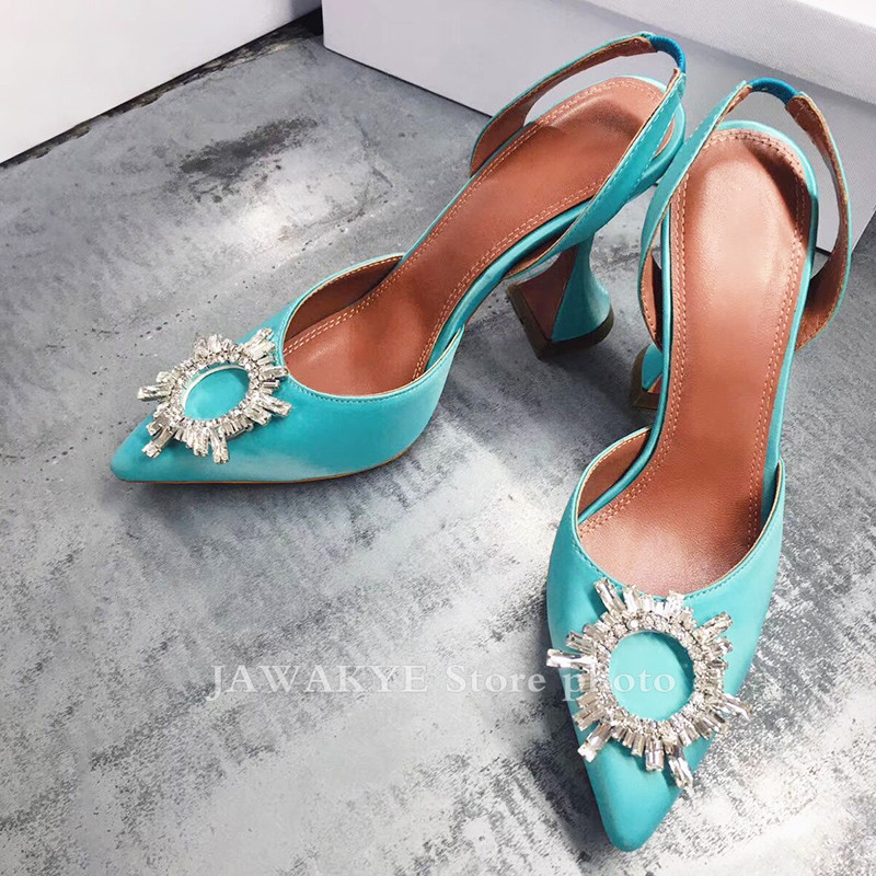 Clear PVC Transparent Crystal Shoes women pointed toe Cup high heels sandales Slingback pumps snakeskin Summer Sandals female