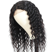 BUGUQI Hair Human Hair Wigs Deep Wave Wigs100% Brazilian Non-Remy Hair Glueless