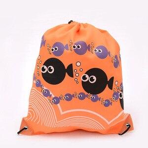 New School Drawstring Shoes Bag Football Toys Storage Bag Backpack Travel Organizer Housekeeping Pouch Organizer