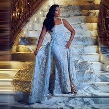 Арабский кафтан нарукавники платья для выпускного вечера небесно