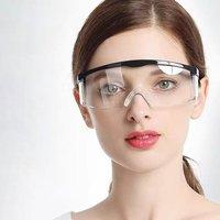 Schutz Sicherheit Brille Arbeiten Anti Staub Auge Anti Nebel Antisand winddicht Anti Staub Speichel Transparent Brille Augenschutz-in Schutzbrille aus Sicherheit und Schutz bei