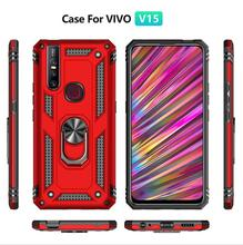 Sergeant anti-fall armor mobile phone shell car magnetic FOR:VIVO V15 V15pro ring bracket protective cover case