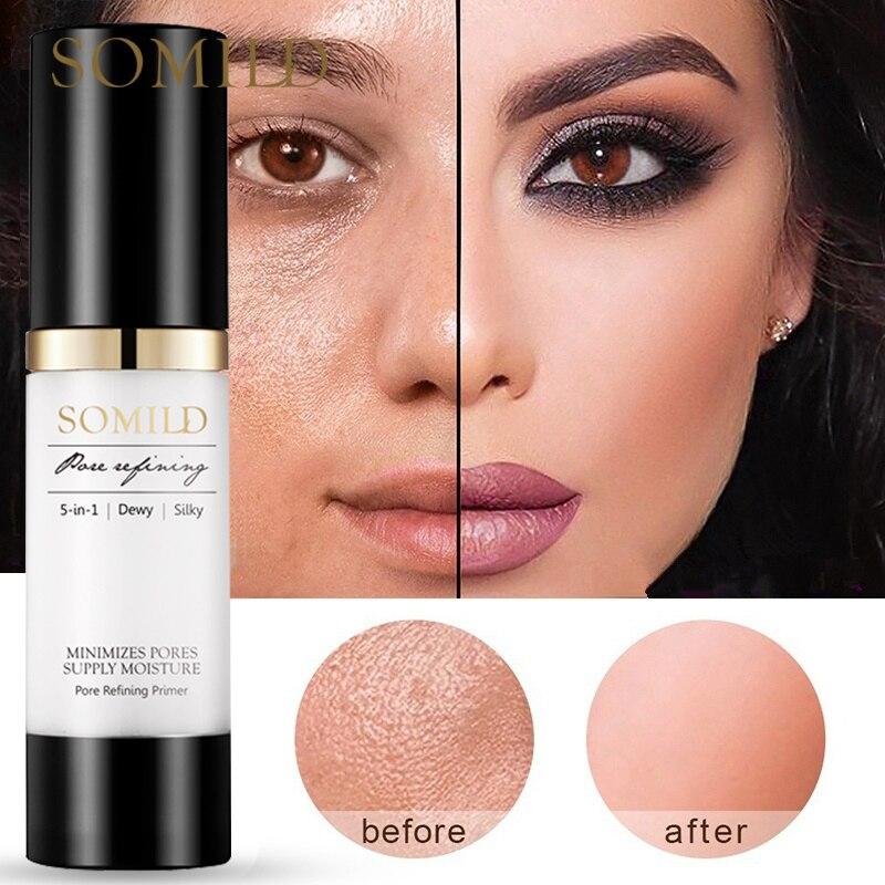 SOMILD 30ML Korean Face Primer Makeup Base Oil-Control Whitening Invisible Pore Facial Matte Make Up Foundation Primer Cosmetics