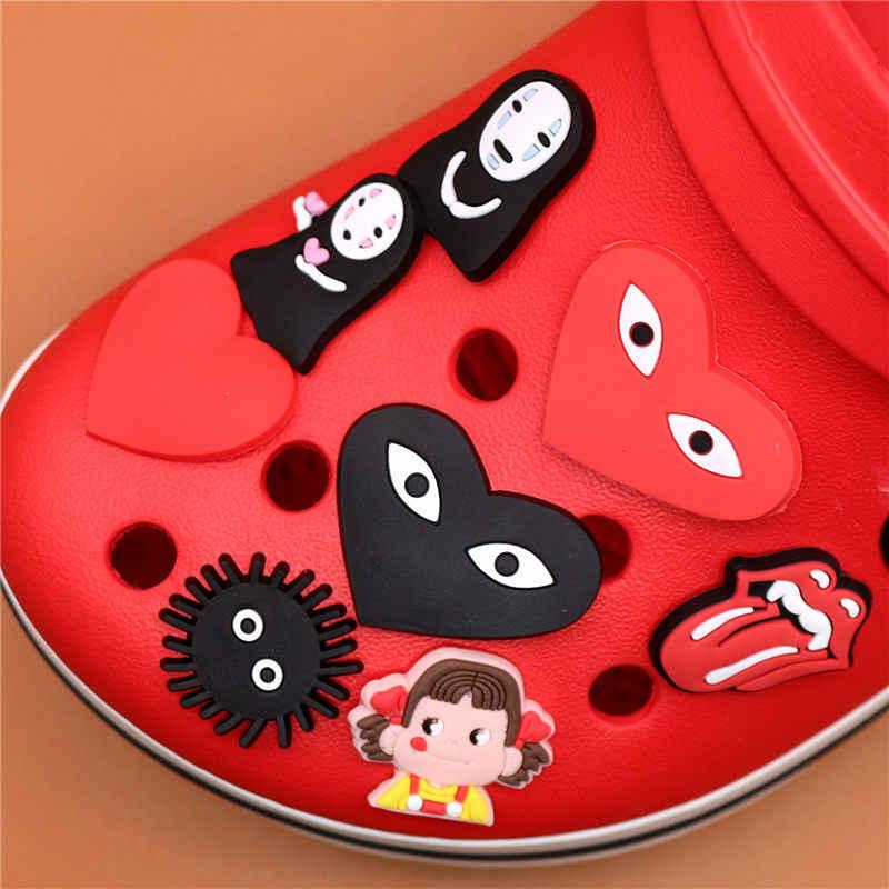 小説シングル販売千 & アウェイ靴チャームアクセサリーかわいい顔男庭の靴の装飾クロコ jibz 子供の X-Mas のギフト