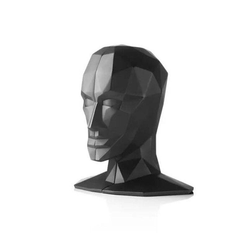 أنيقة الأوروبية دراسة عالية الجودة مكتب زينة الراتنج الحرف الإنسان الوجه الدماغ الدفتين أفضل هدية ، شحن مجاني-في التماثيل والمنمنمات من المنزل والحديقة على  مجموعة 2