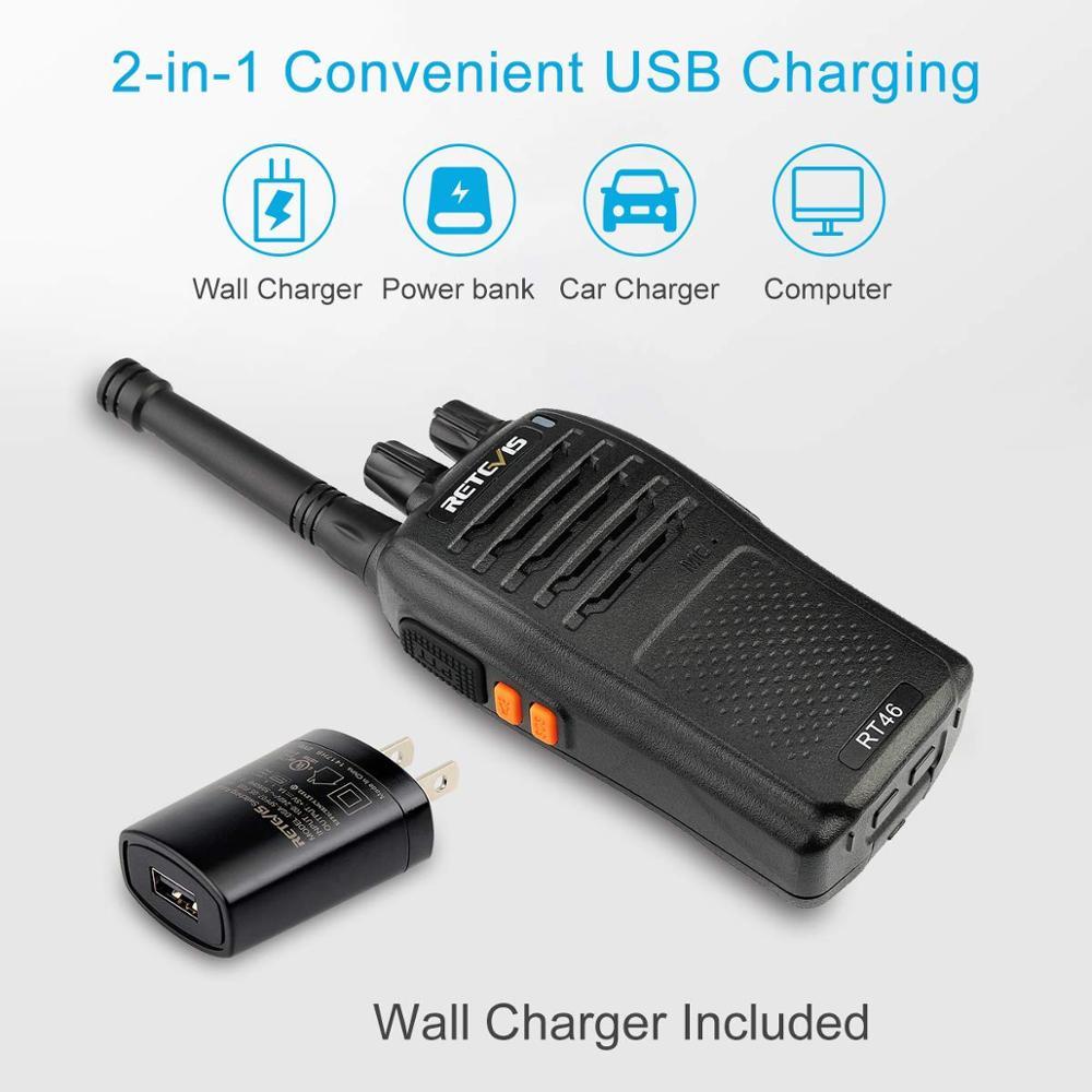 Retevis RT 21 SOS Alarm FRS License-free Walkie Talkie VOX  W//USB Car Charger