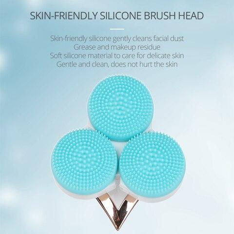 sonico inteligente escova de limpeza facial silicone