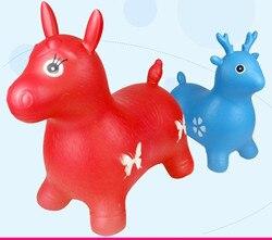Nadmuchiwana zabawka duży gruby nadmuchiwany koń muzyczny skórzany koń dziecięcy nadmuchiwany jeleń skaczący koń dziecięcy
