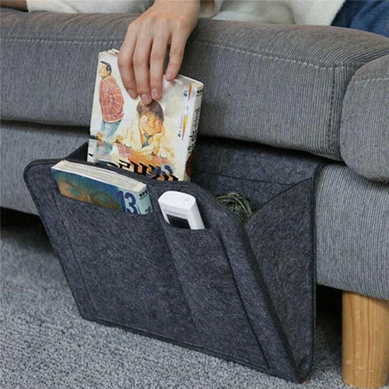 Bedside Storage Caddy Hanging Bag Felt Organizer Pocket Book Holder V4S2