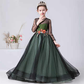 2019 Luxury New High-Grade Girls Children Elegant Evening Party Holiday Princess Long Tail Dress Kids Model Show Costumes Dress - DISCOUNT ITEM  20% OFF All Category