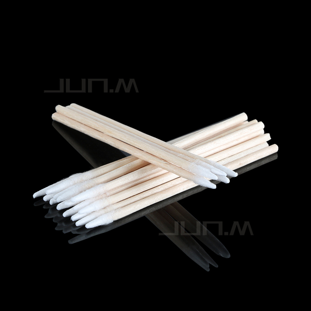 1000Pcs Kapok Sign Cosmetics Permanent Makeup Tattoo Microblading Ear Jewelry Cleaning Stick Bud Tip Kapok Head Cotton Swab 2