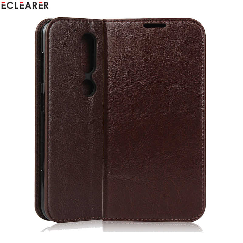 ECLEARER Wallet Case For Nokia 4.2 Cover Luxury Genuine Leather Case For Nokia 4.2 Vintage Card Slots Flip Case For Nokia 4.2