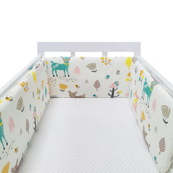 baby nursery Nordic Stars Design Baby Bed Thicken Bumper One-piece Crib Around Cushion Cot Protector Pillows Newborns Room Decor 32
