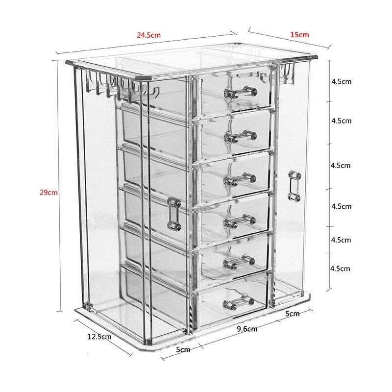 Boîte de rangement cosmétique transparente tiroir multicouche soins de la peau finition commode Collection de rouge à lèvres - 2