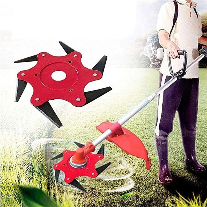 Lawn Mower Brush Cutter Blades 3/4/5/6 Teeth Garden Grass Trimmer Head  Blade Trimmer Metal Blades Garden Tools