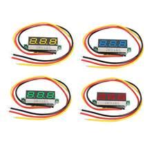 Voltmètre de batterie, Ultra petit affichage numérique Dc, 0.28 pouces, 3 lignes réglables, 2 lignes 3 lignes, universel