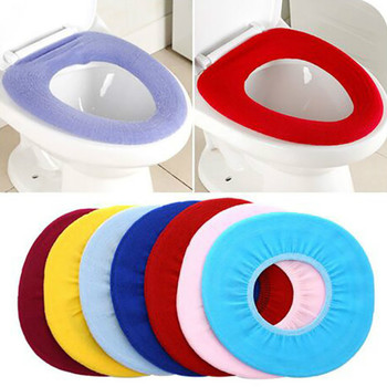 Colorful Warm Soft Washable Toilet Seat Cover Mat Set for Home Decor Closestool Mat Seat Case Toilet Lid Cover Accessories