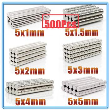 500Pcs Mini Small N35 Round Magnet 5x1 5x1.5 5x2 5x3 5x4 5x5 mm Neodymium Magnet Permanent NdFeB Super Strong Powerful Magnets