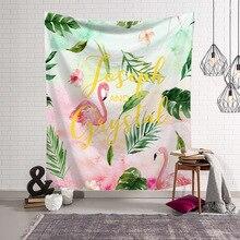 Скандинавский современный настенный гобелен серии Фламинго печатное искусство настенный гобелен из ткани спальни фон декоративная шаль одеяло