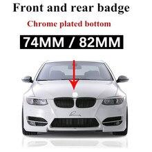 1pcs 74mm 82mm Logotipo Capô Tronco Emblema Do Carro Para BMW 3 5 7 Série E32 E34 E36 E38 E39 E46 E53 E60 E65 E66 E90 M3 M5 acessórios