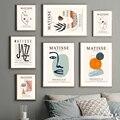 Анри Матисс Абстрактная фигура медитация настенная живопись холст скандинавские плакаты и принты настенные картинки для декора гостиной