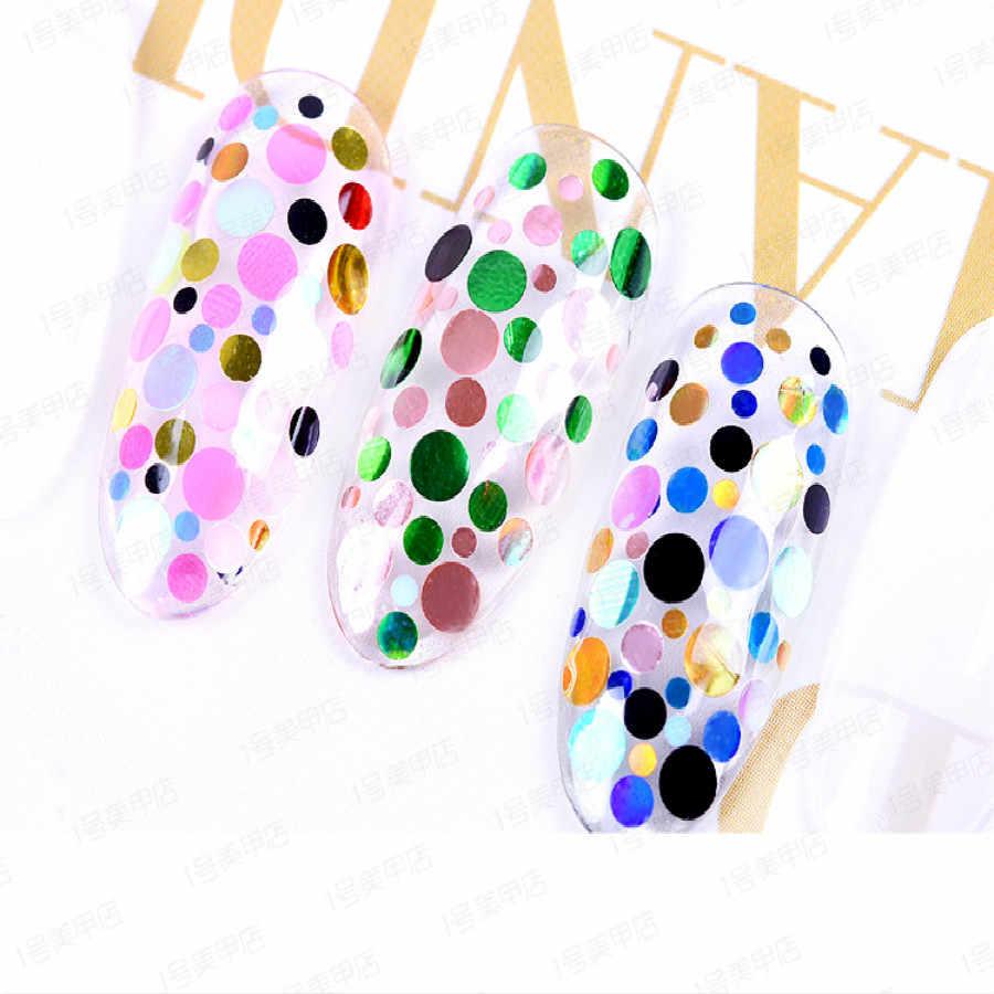 1Pcs DIY Purple White Sequins Nail Art Nail Rhinestone Small Irregular Beads Manicure 3D Nail Art Decoration Wheel Accessories