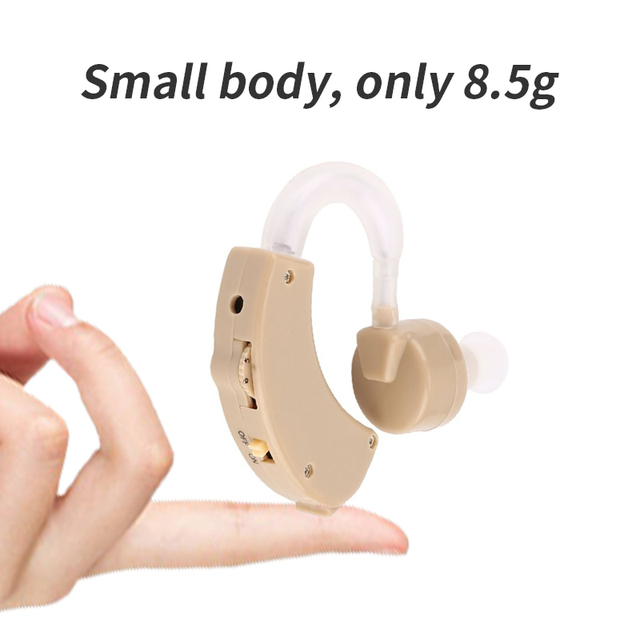 Portable Hearing Aid Mini Ear Sound Amplifier Adjustable Ear Hearing Amplifier Aid Kit Tone Hearing Aids for the Deaf/Elderly 2