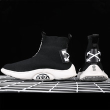 SEGGNICE Sneakers Women Men Knit Breathable Sport Shoes Sock Boots Woman Chunky High Top Running For