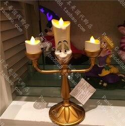 Bougeoir la belle et la bête, chandelier Lumiere