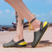 Men Sandals Hiking Plus Size EUR 47 Men Summer Sport Water Sandals Big Size US12.5 Slip-On Beach Water Shoes Breathable Sneakers цена 2017